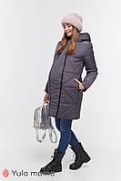 Зимнее теплое пальто angie ow-49.034 для беременных s Юла мама