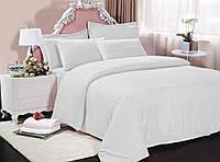 """Белый семейный комплект постельного белья (3625) хлопок """"Ранфорс"""""""
