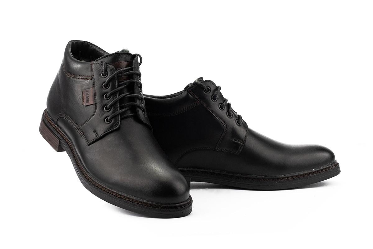 Ботинки мужские Bonis 36/8 черные (натуральная кожа, зима)