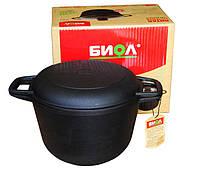 Кастрюля чугунная с крышкой-сковородой 4 л Биол 0204