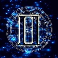 Алмазная вышивка мозаика Чарівний діамант Знак зодиака – Близнецы КДИ-0685 30х30 см 18цв Квадратные стразы