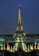 Алмазная вышивка мозаика Чарівний діамант Ночной Париж-2 КДИ-0651 50х35 см 25цв Квадратные стразы полная