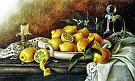 Алмазная вышивка мозаика Чарівний діамант Лимонный натюрморт КДИ-0562 50х30 см 27цв Квадратные стразы полная
