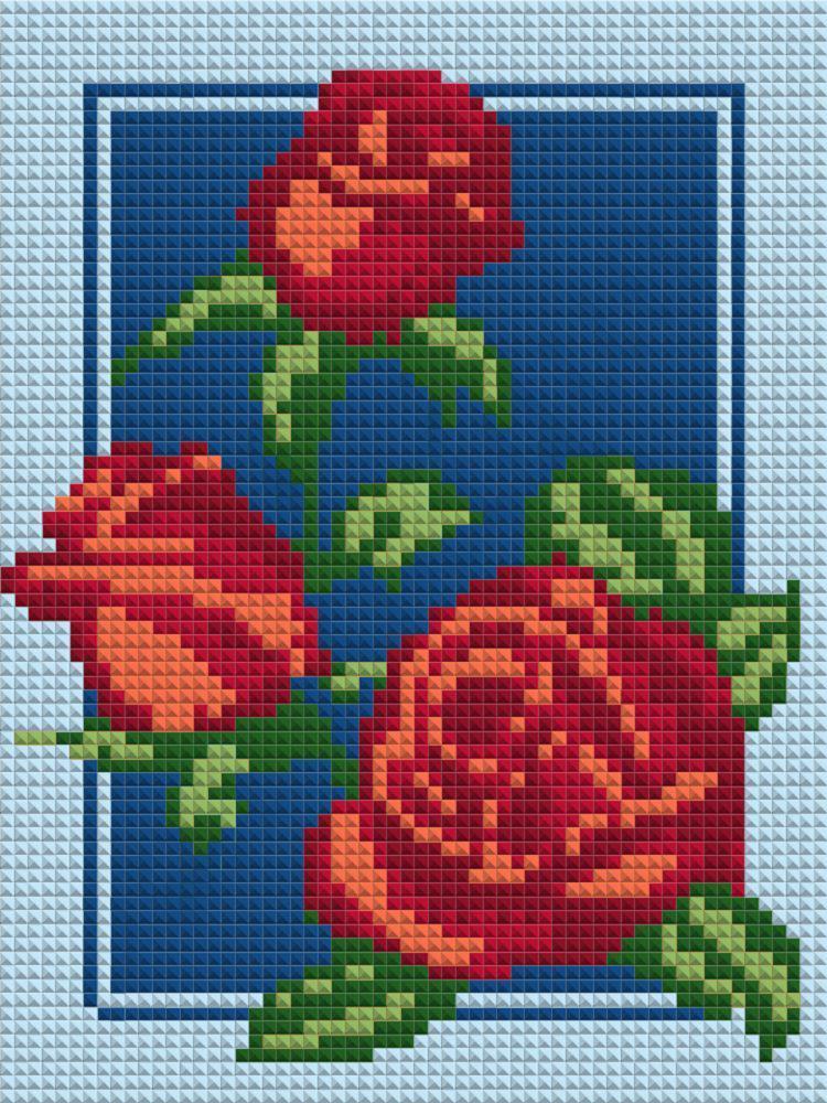 Алмазная вышивка мозаика Чарівний діамант Розы-2 КДИ-0743 20х15 см 7цв Квадратные стразы полная зашивка