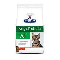 Сухой корм-диета Hills (Хиллс) Prescription Diet r/d Weight Reduction для кошек, снижение веса с курицей 1.5кг