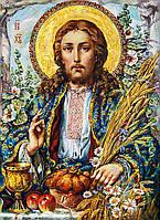 Алмазная вышивка мозаика Чарівний діамант икона Иисус Христос с колосьями КДИ-0665 55х40 см Художник Okhapkin