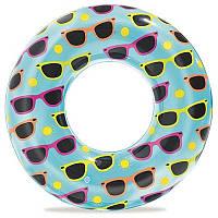 Яркий детский надувной круг для плавания Bestway с диаметром 30 см бирюзового цвета с принтом
