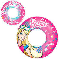 Яркий надувной круг для плавания Bestway Барби диаметр 56 см