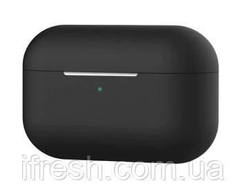 Чехол силиконовый для наушников Apple Airpods Pro, силикон, разные цвета Черный