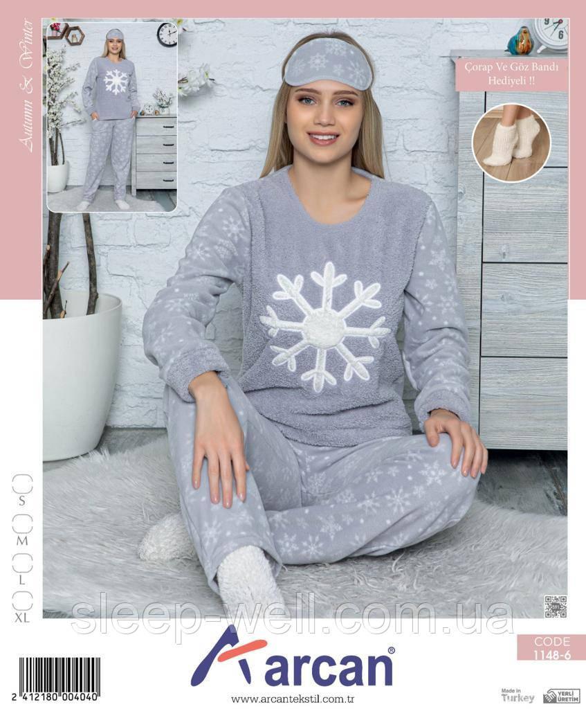 Тёплая пижама молодёжная,велсофт