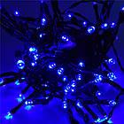 Гирлянда нить светодиодная 300 LED, Голубая, черный провод, 14м., фото 2