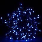 Гирлянда нить светодиодная 300 LED, Голубая, черный провод, 14м., фото 3