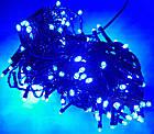 Гирлянда нить светодиодная 300 LED, Голубая, черный провод, 14м., фото 4