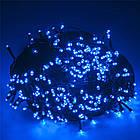 Гирлянда нить светодиодная 300 LED, Голубая, черный провод, 14м., фото 5
