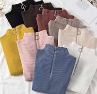 Женский гольф водолазка Турция S\M свитер разные цвета