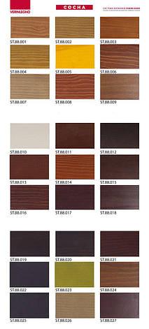 Каталог красителей  (морилок, бейцев)  VERINLEGNO (Италия) для древесины,  выкраска на сосне, 1 шт., фото 2