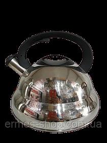 Чайник нержавійка з свистком ZP-17 | 4 л