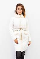 Куртка-пальто женская зимняя Punky Klan. Белый цвет.