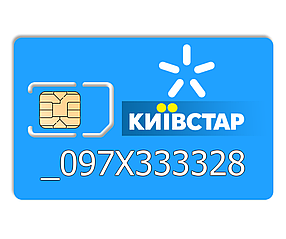 Красивий номер Київстар 097-X-3333-28