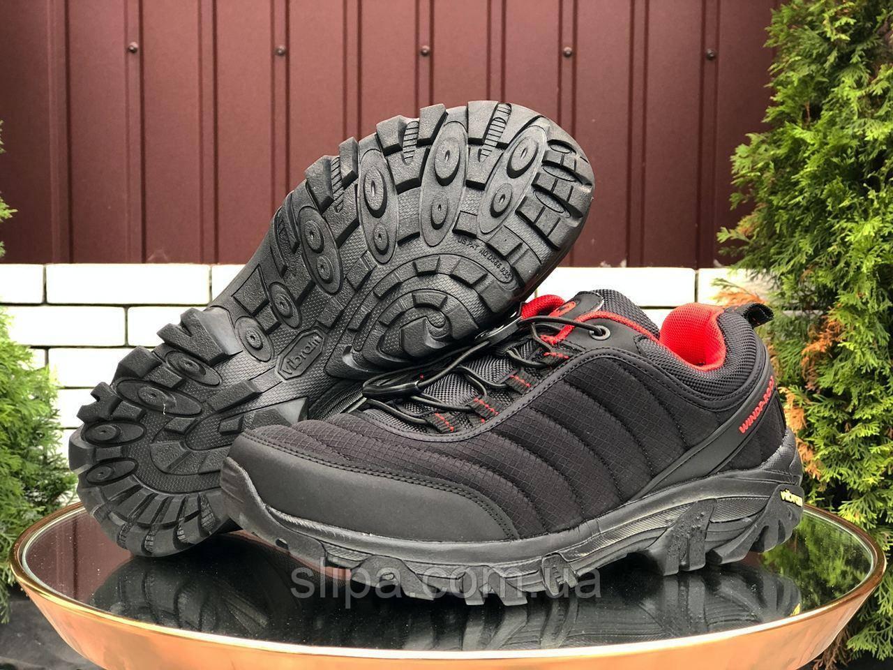 Чоловічі утеплені кросівки Merrell чорні з червоним 44 розмір