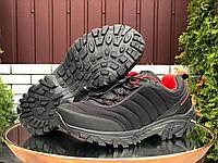 Чоловічі утеплені кросівки Merrell чорні з червоним 44 розмір, фото 1