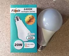 Мощные LED лампа 20w А95 E27 Flash 6400K 2000Lm
