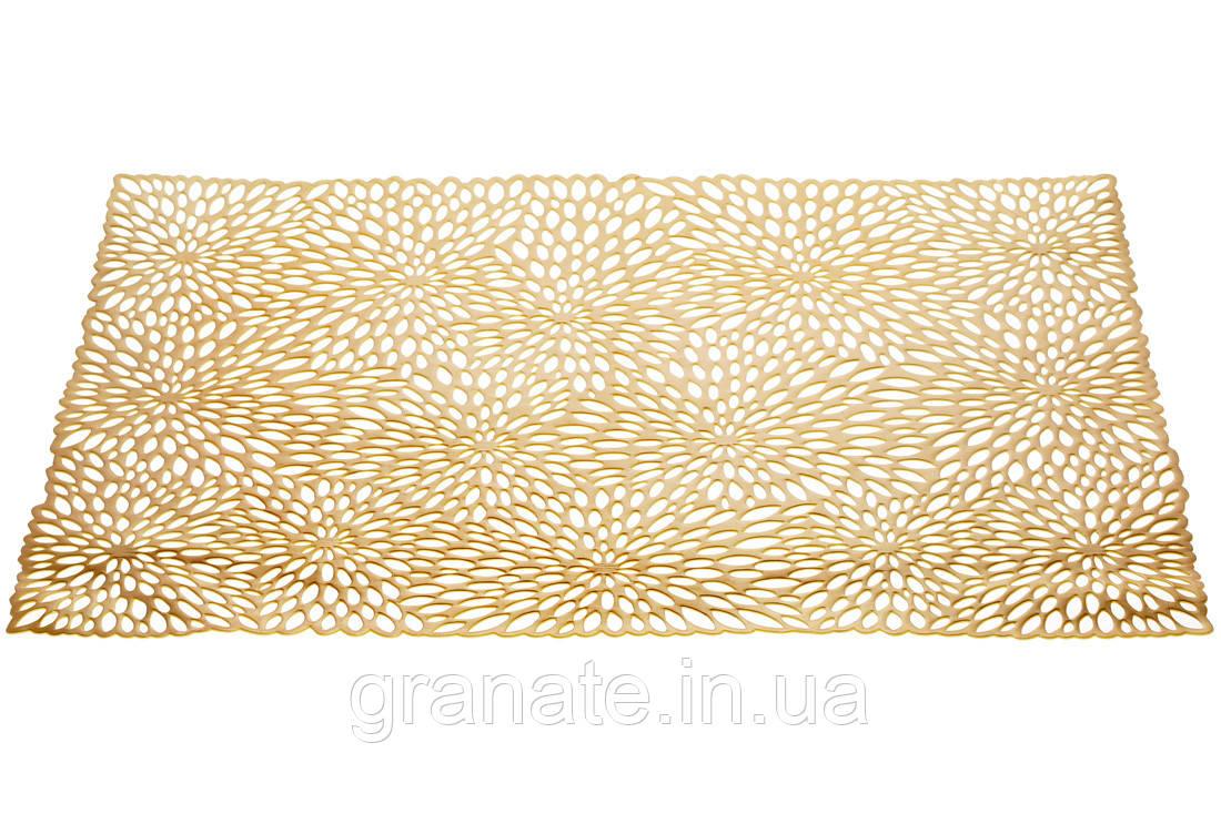 Сервировочный коврик, подтарельник 33*48, цвет - золото, набор - 12 штук