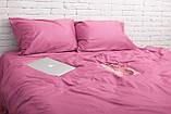 Комплект постільної білизни з сатину турецьким виробником tac, Туреччина, постільна білизна 100% бавовна рожевого кольору Двоспальний, фото 2