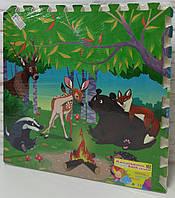 Коврик-пазл EVA Сказочный лес 4 шт в упаковке, 60х60 см С 36565
