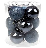 Набор новогодних елочных пластиковых шаров 12шт*8 см, фото 1