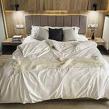 Комплект постельного белья из сатина Турция, постельное белье 100% хлопок белого цвета Евро
