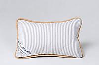 Подушка из овечьей шерсти мериносов Goodnight - серая в полоску 40х60