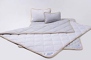 Комплект постельного белья из овечьей шерсти мериносов Goodnight - серый в полоску семейный