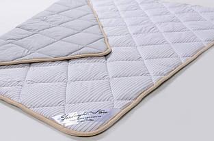 Одеяло из овечьей шерсти мериносов Goodnight - серое в полоску 240х200