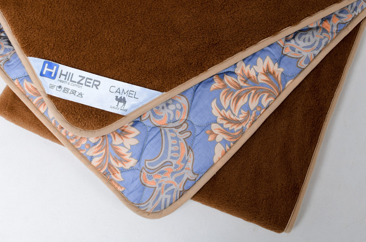 Одеяло из верблюжьей шерсти HILZER CAMEL/SATIN - всесезонное универсальное 140х200