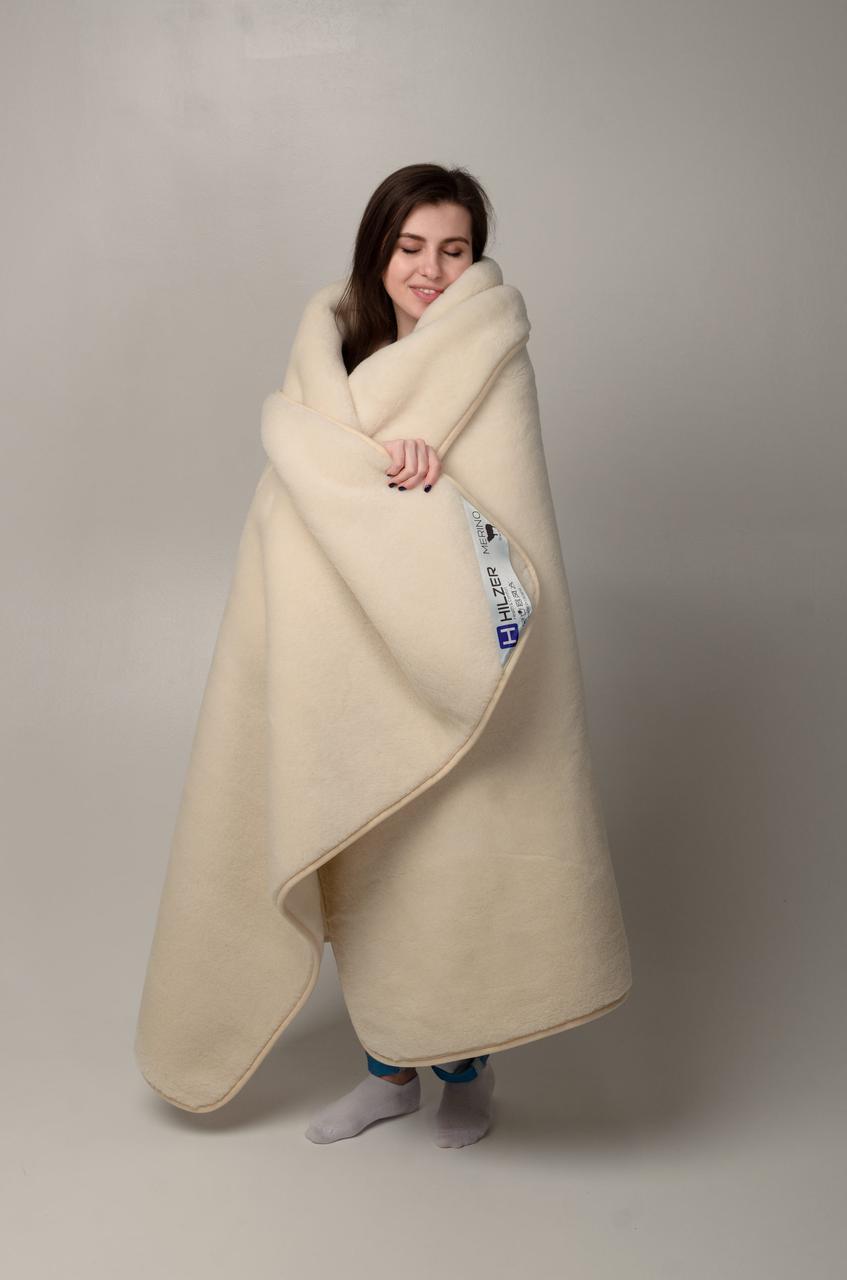 Одеяло из овечьей шерсти мериносов HILZER MERINO - теплое зимнее 200х200