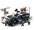 """Конструктор SLUBAN 759 деталей """"Поліція. Військовий вантажівка"""" М38-В0773 в коробці, фото 2"""