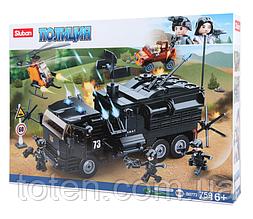 """Конструктор SLUBAN 759 деталей """"Полиция. Военный грузовик"""" М38-В0773 в коробке"""