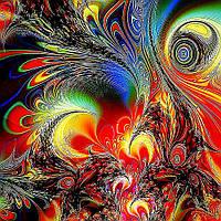 Алмазная вышивка мозаика Чарівний діамант Символ возрождения – Феникс КДИ-0819 50х50 см 30цв Квадратные стразы