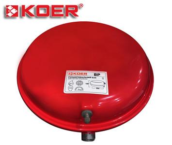 Расширительный бак Koer для отопления 12 литров (плоский)