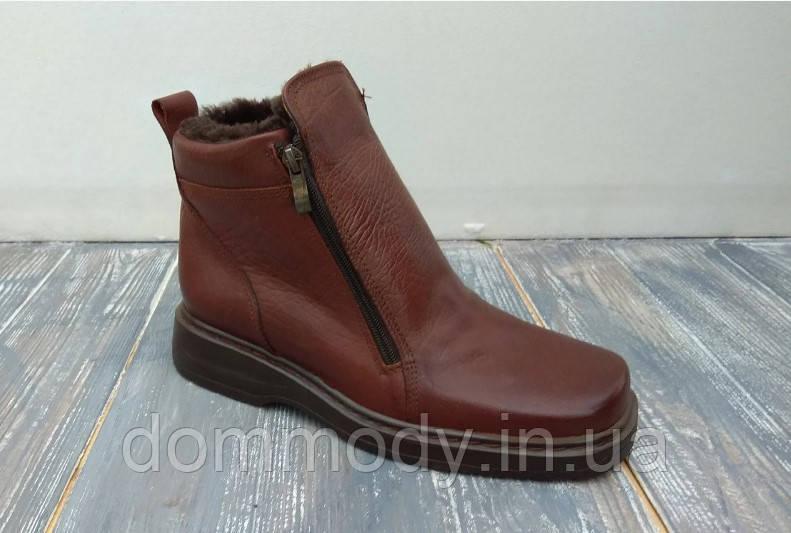Ботинки мужские из кожи Alaska зимние