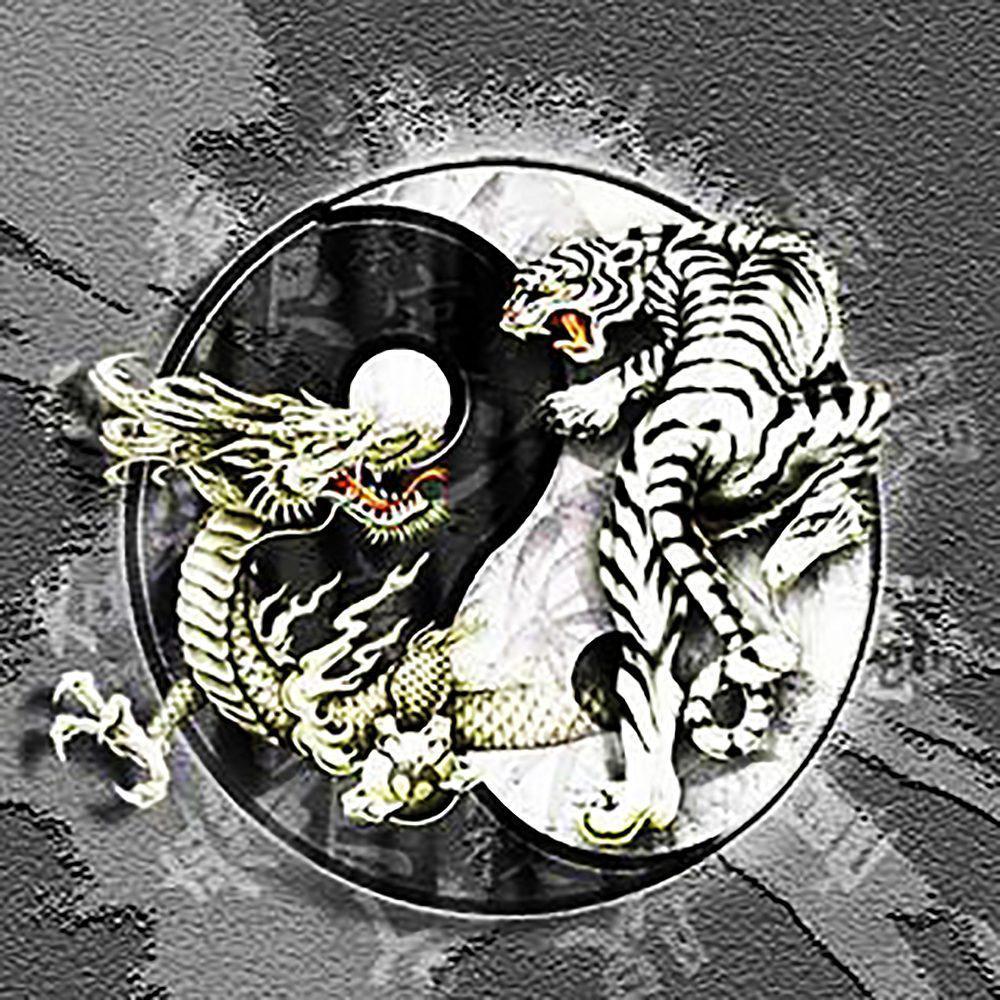 Алмазная вышивка мозаика Чарівний діамант Инь и Янь КДИ-0958 55х55 см 18цв Квадратные стразы полная зашивка