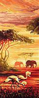 Алмазная вышивка мозаика Чарівний діамант триптих Африканские слоны (часть 1) КДИ-0252-1 20х50 см 25цв, фото 1