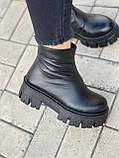 Тільки 38 р! Жіночі черевики ЗИМА чорні натуральна шкіра, фото 8