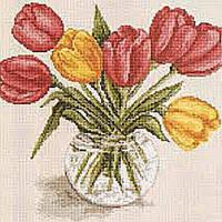 Алмазная вышивка мозаика Чарівний діамант Букет тюльпанов-2 КДИ-0153 20х20 см 15цв Квадратные стразы Полная, фото 1