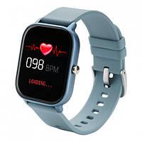 Смарт-часы Globex Smart Watch Me Blue, часы на руку, часы электронные, часы с экраном