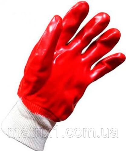 Перчатки рабочие синие  WERK