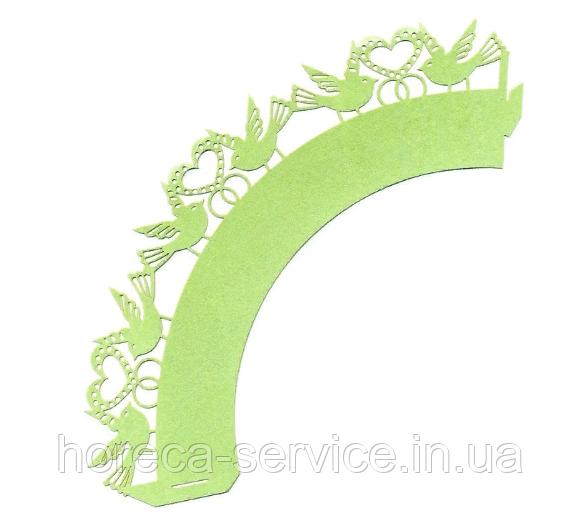 0366 Накладка бумажная декоративная ажурная для маффинов разных цветов (уп 20 шт)