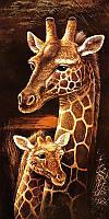 Алмазная вышивка мозаика Чарівний діамант триптих Мамина любовь КДИ-0374 60х30 см Жирафы часть 1 10цв, фото 1