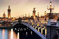 Алмазная вышивка мозаика Чарівний діамант Вечерний мост Парижа КДИ-0367 60х40 см 25цв Квадратные стразы полная